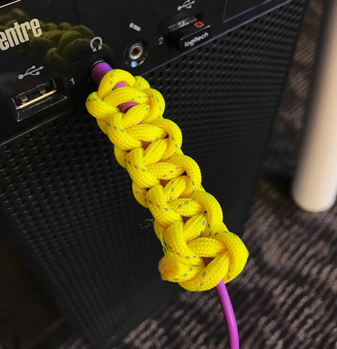 Charger with Paracord Protector