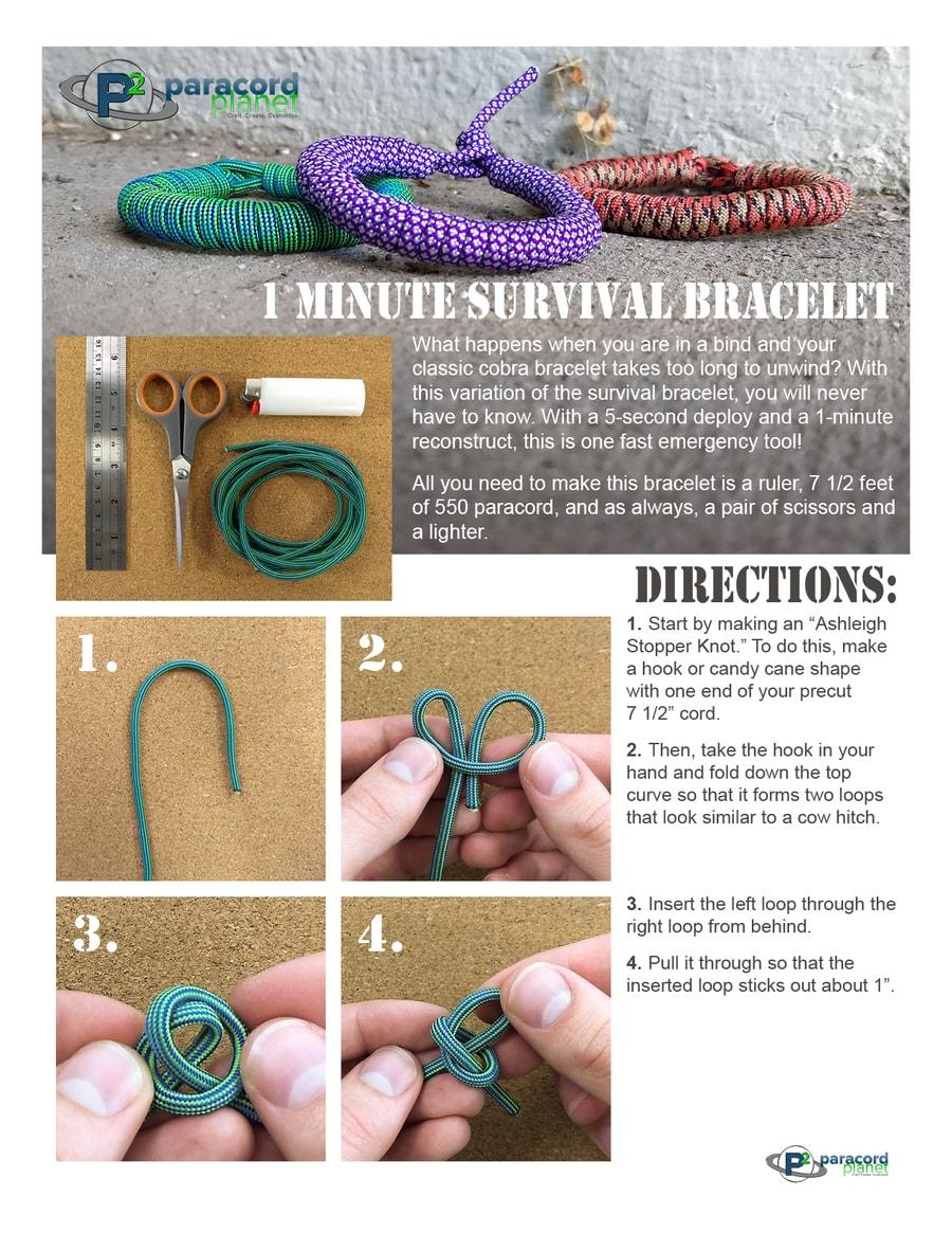 1 minute survival bracelet page 1