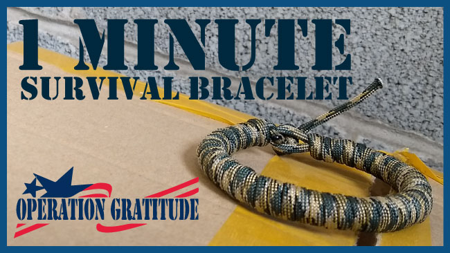 Operation Gratitude paracord bracelet