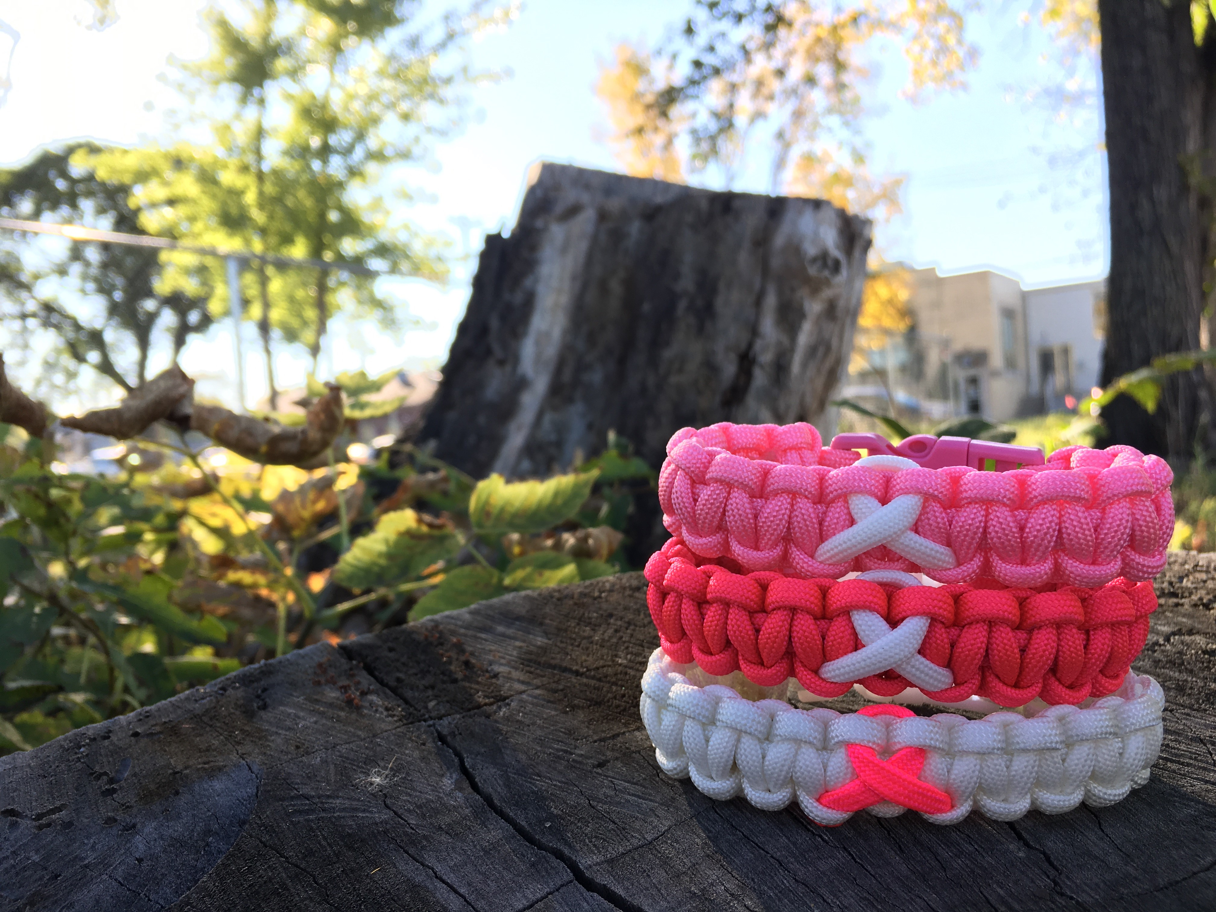 Paracord Awareness Ribbon Bracelets