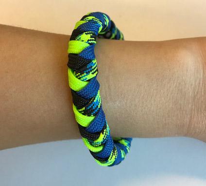Neon paracord bracelet