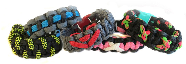 Paracord Bracelets with accents