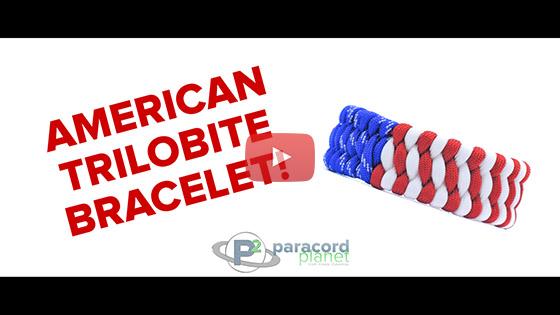 Trilobite American Flag Bracelet Tutorial