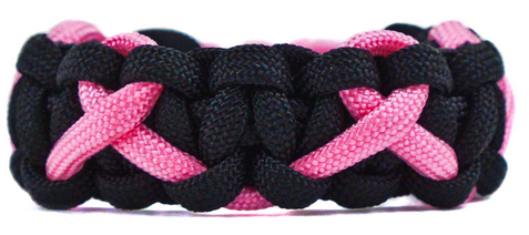 Paracord awareness ribbon bracelet