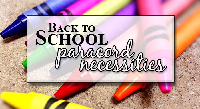 Back to School Paracord Necessities