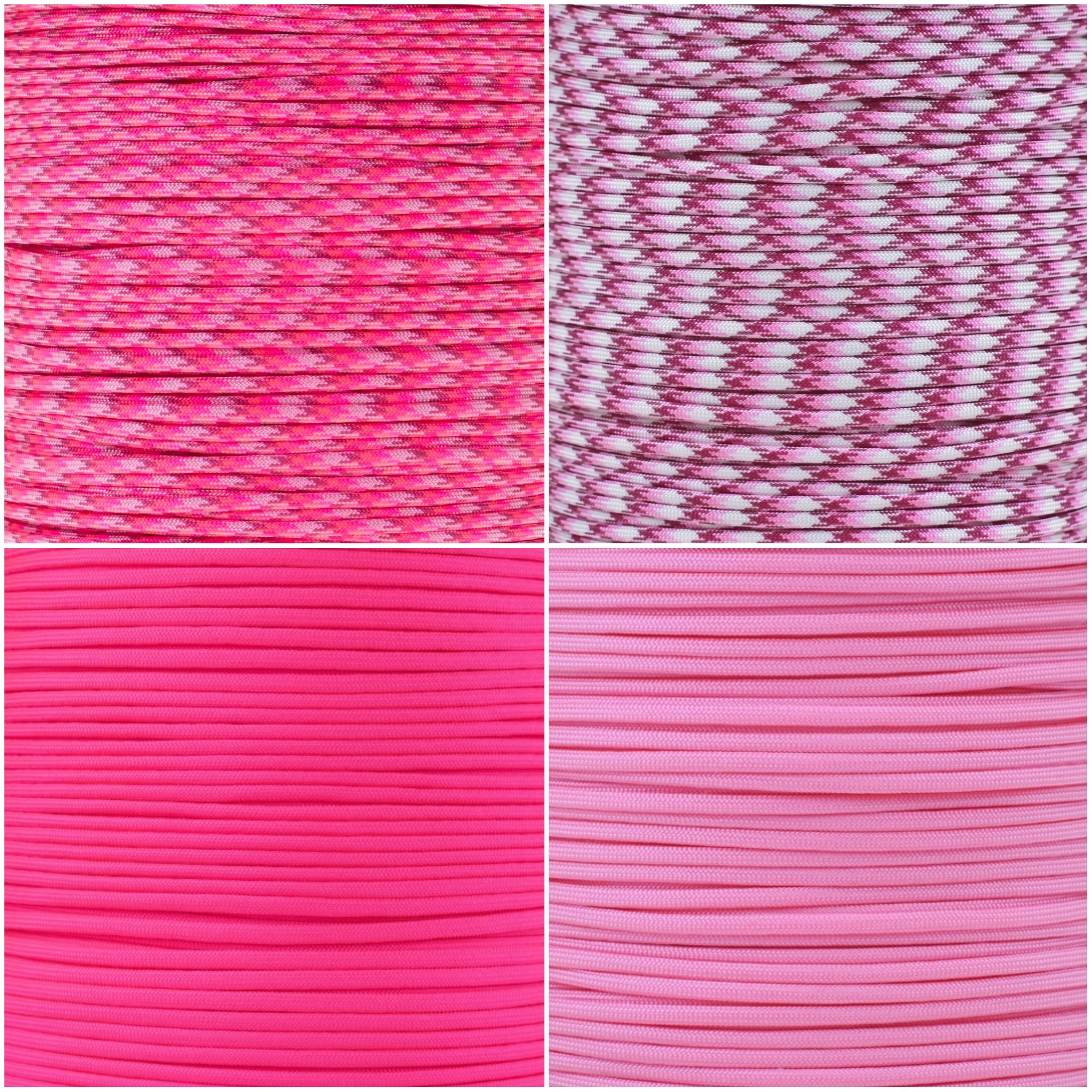Breast Cancer Awareness Paracord Colors
