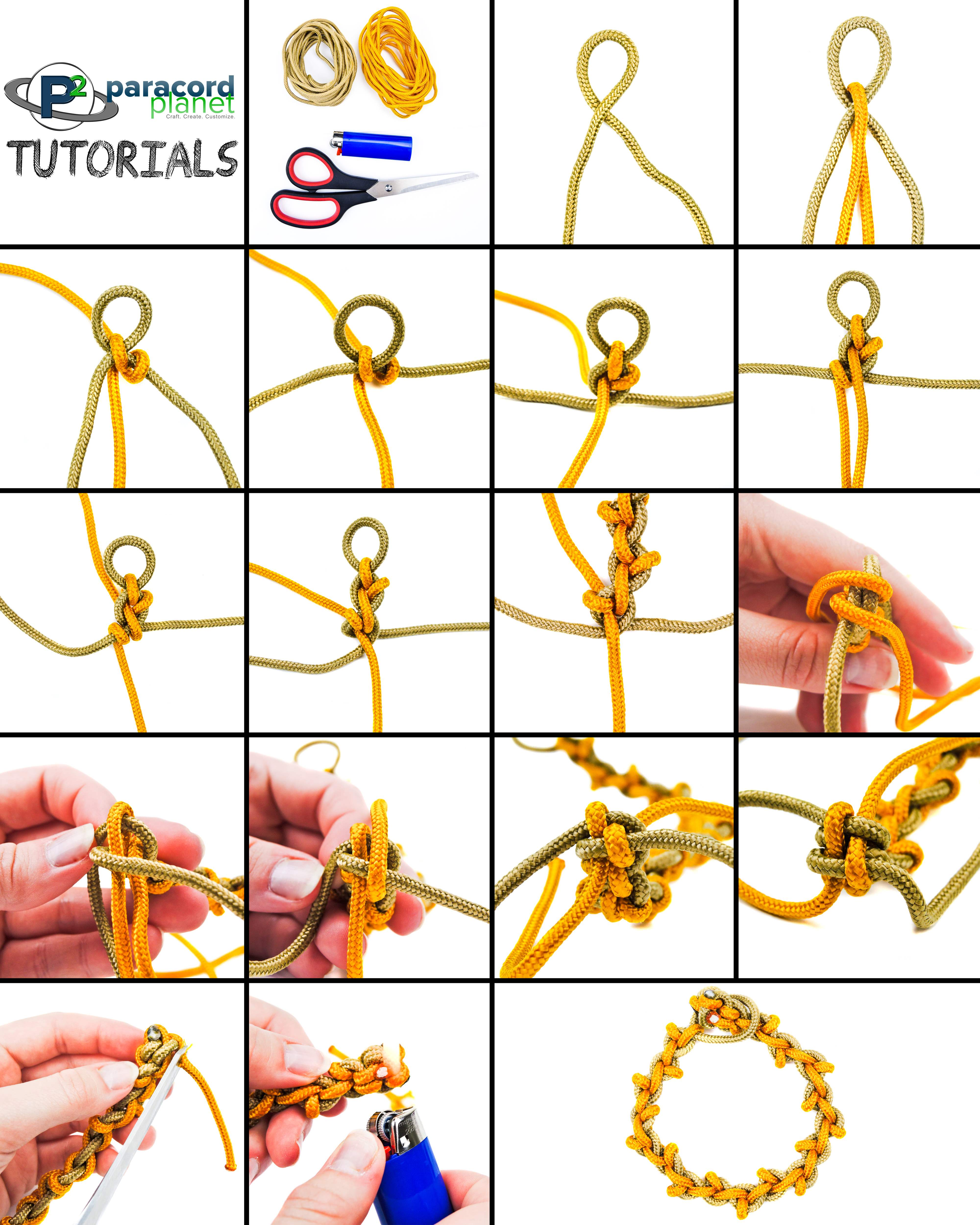 Wheat Stalk Paracord Tutorial