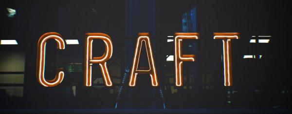 Craft neon sign