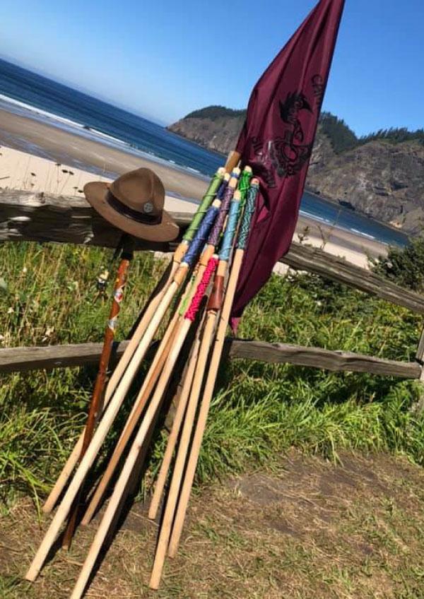 Paracord Hiking Stick