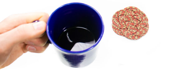 paracord coaster