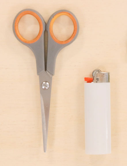 scissors and lighter