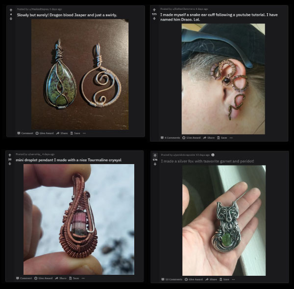 Wire wrapping on reddit