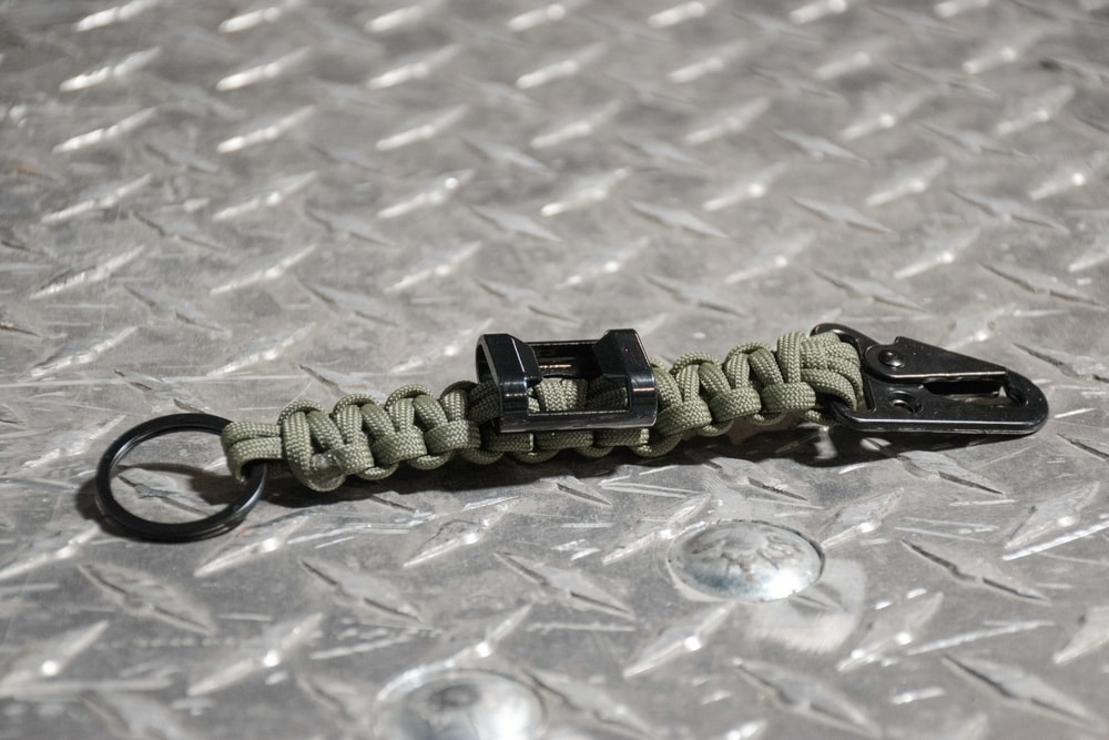 Paracord bottle opener keychain