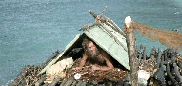 Tom Hanks on a raft