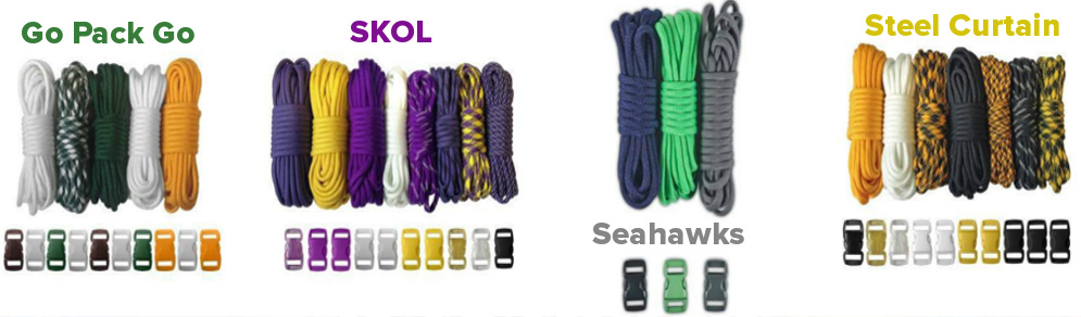 paracord football team colors