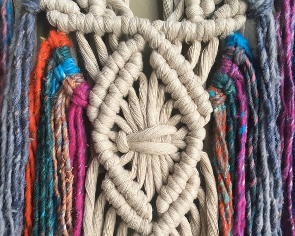 colorful macrame pattern