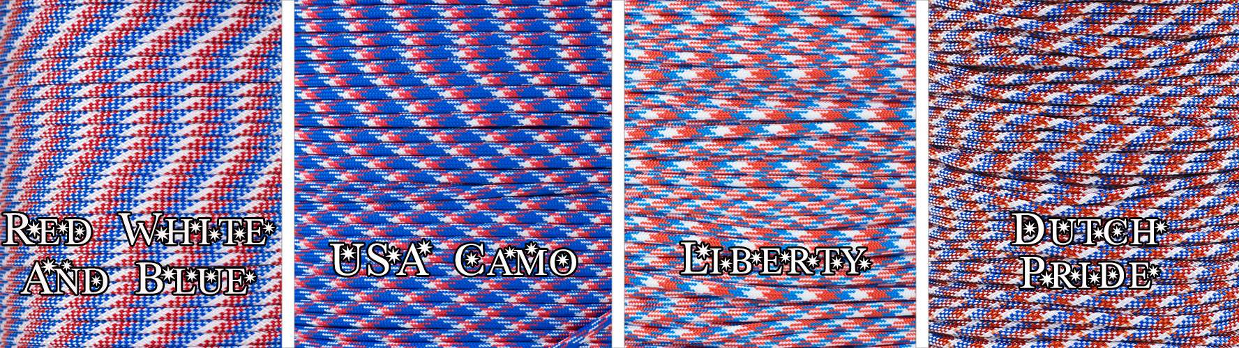 550 USA Paracord Colors