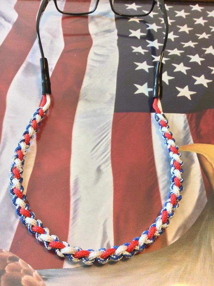 Patriotic Paracord Glasses Strap