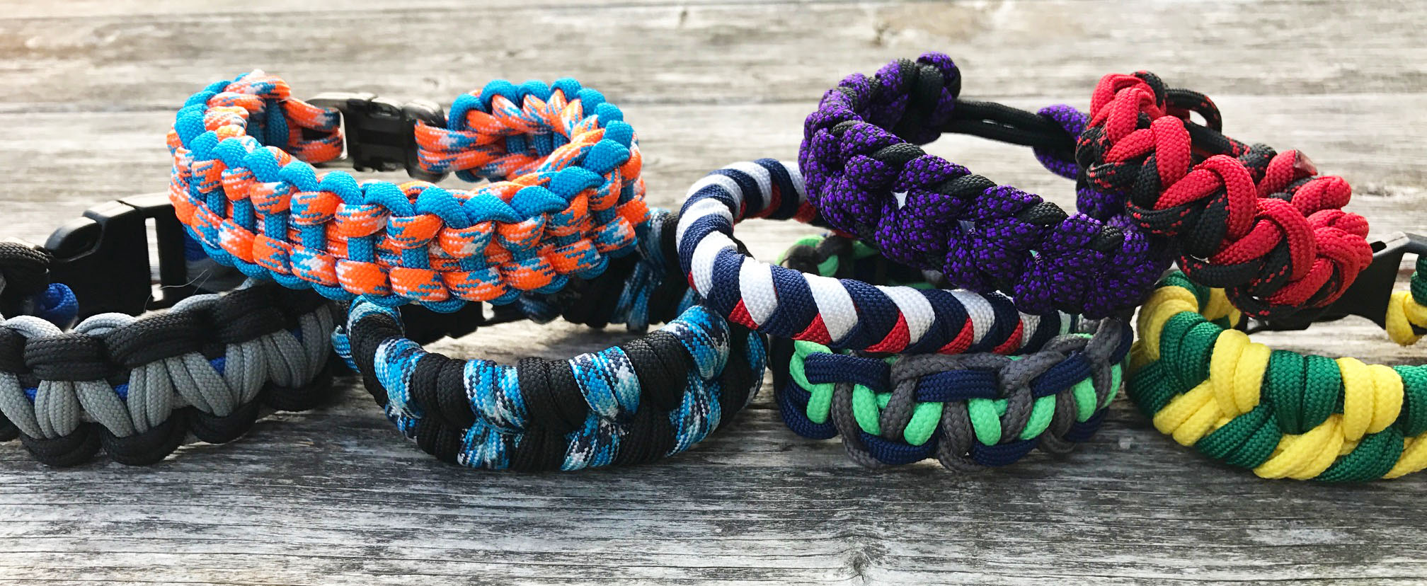 Football team paracord bracelets
