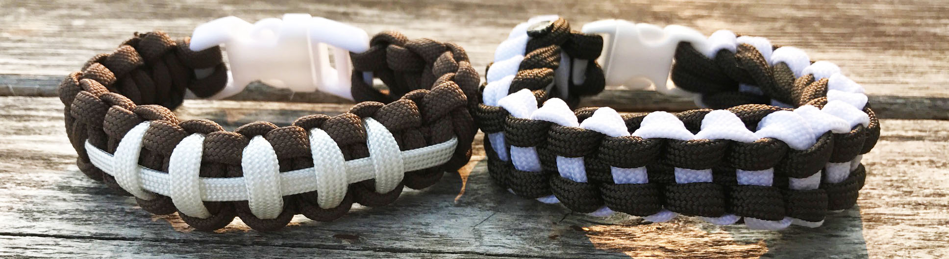 Football theme paracord bracelets