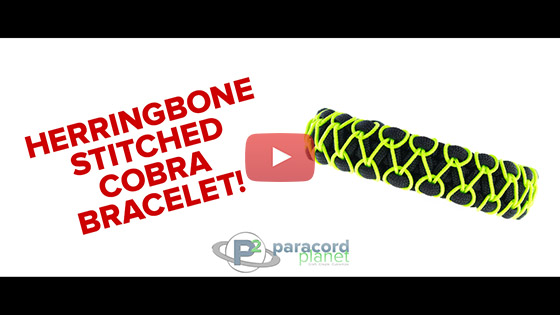 Herringbone Stitched Paracord Bracelet Tutorial Video