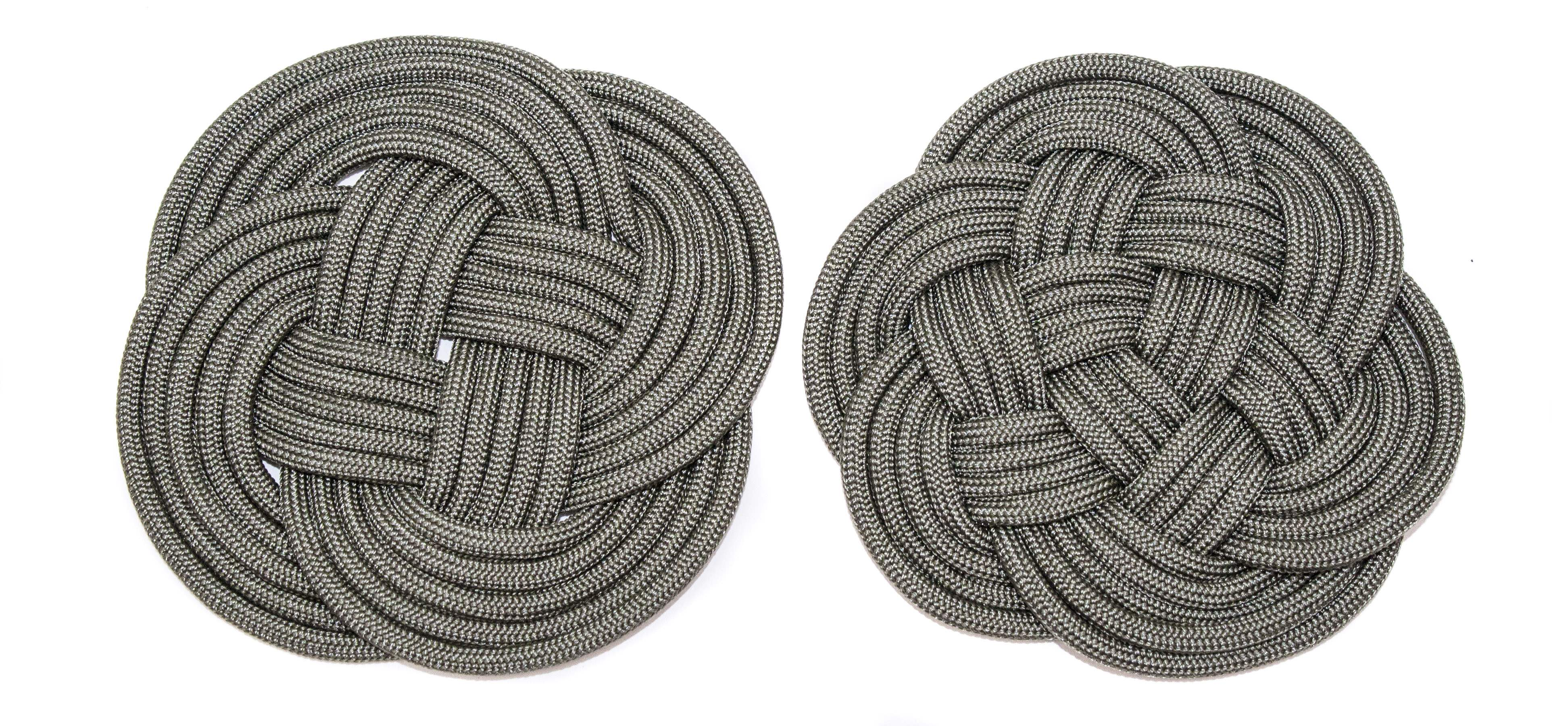 Paracord Turk's Head Coasters