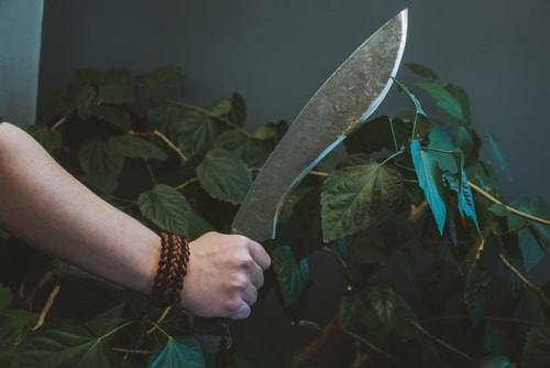Machete with bracelet