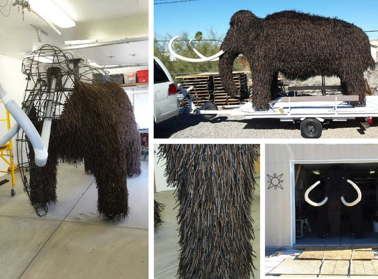 Paracord animal sculpture woolly mammoth