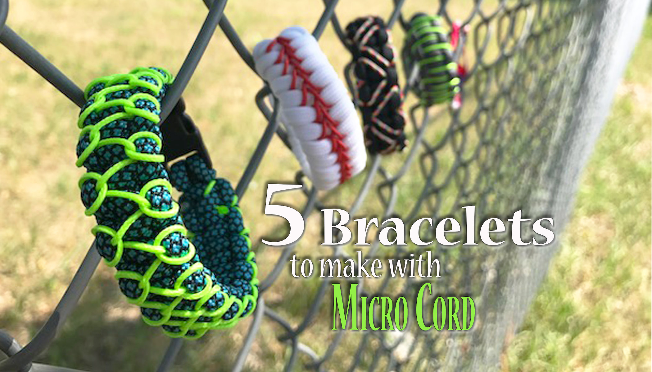 5 Bracelets to make with micro cord