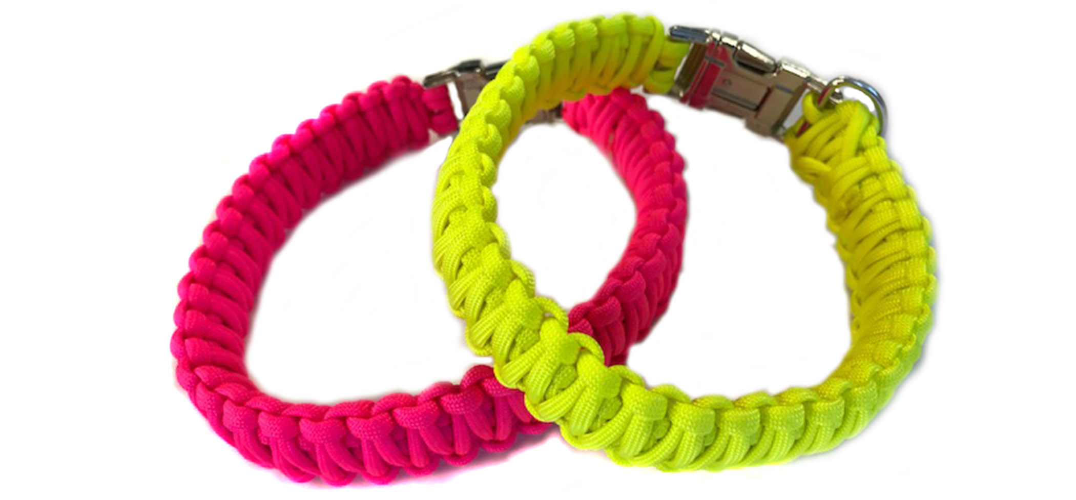Neon paracord dog collars