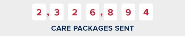 Operation Gratitude care package numbers