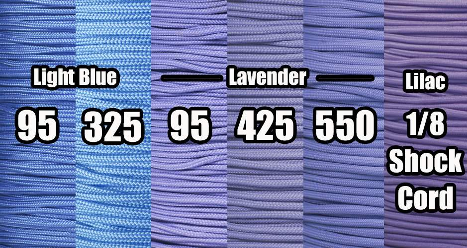 Periwinkle paracord colors