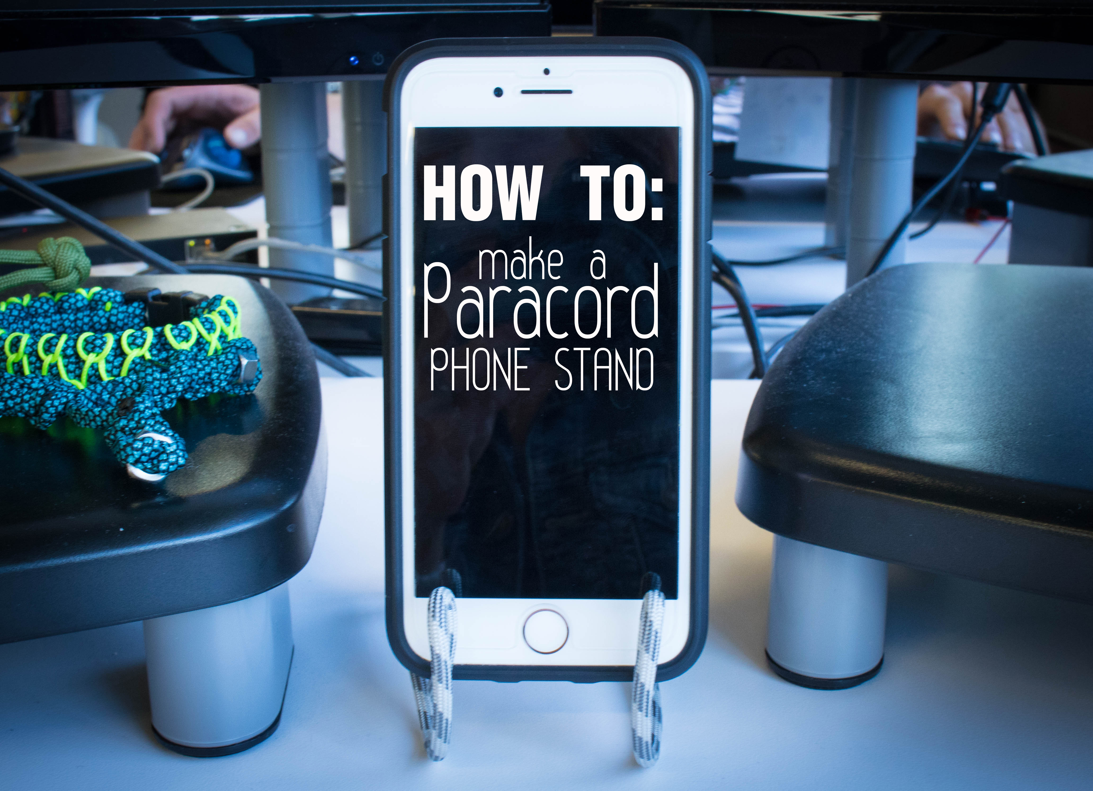 How to Make a Paracord Phone Stand