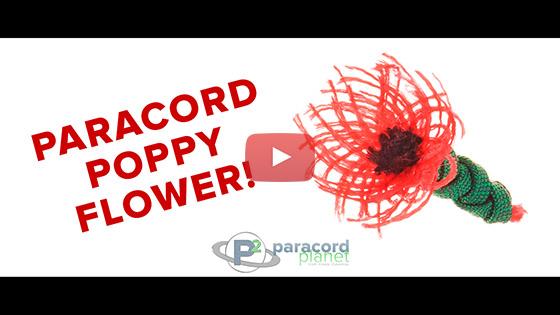 Paracord Poppy Flower Tutorial