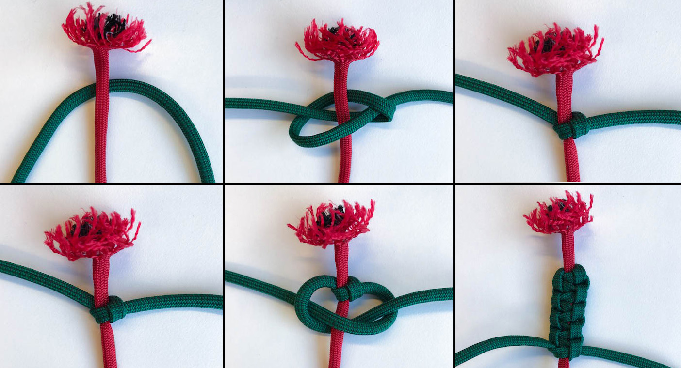 how to make a paracord poppy