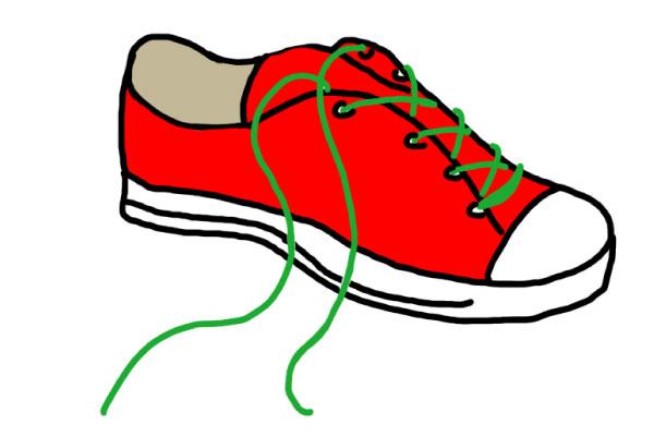 paracord shoelace graphic