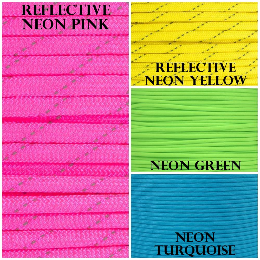 Neon Paracord Colors