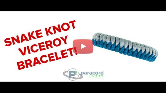 Paracord Snake Knot Viceroy Bracelet