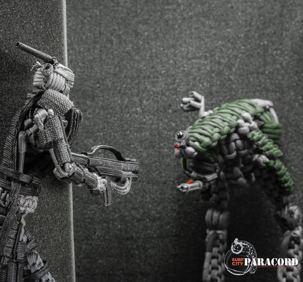 mech droids made of paracord