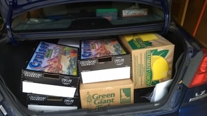 boxes in trunk