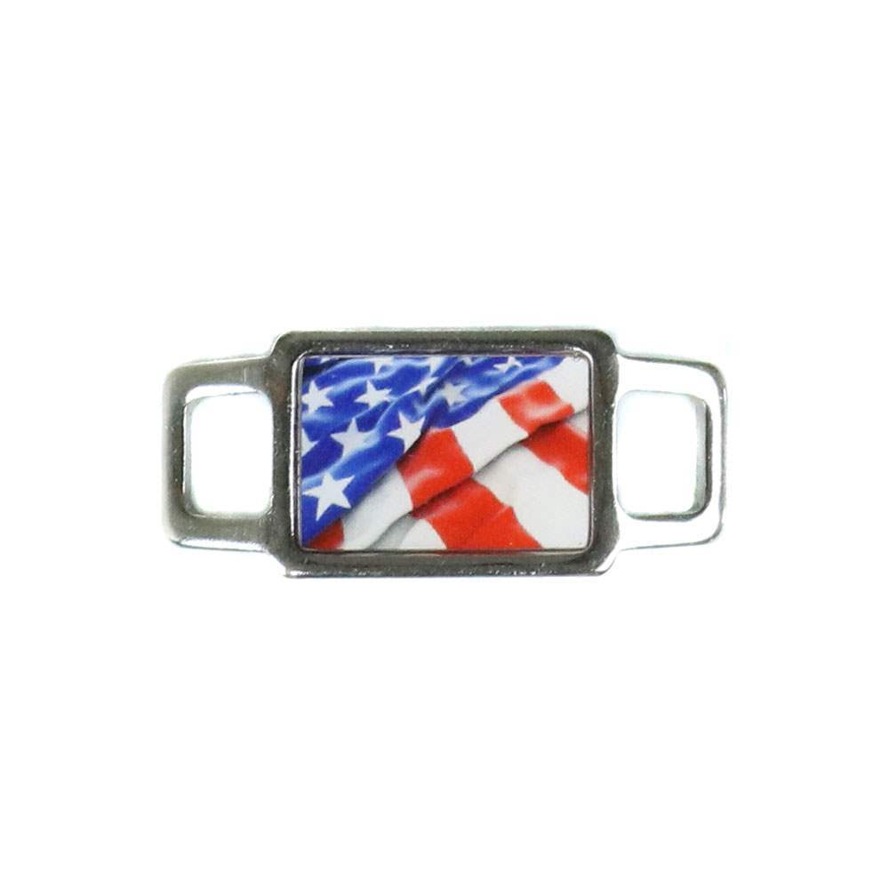 USA Flag Rectangle Charm