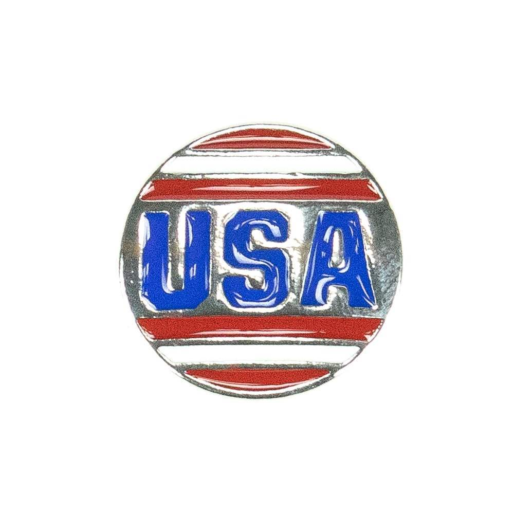 USA 18mm Snap Charm
