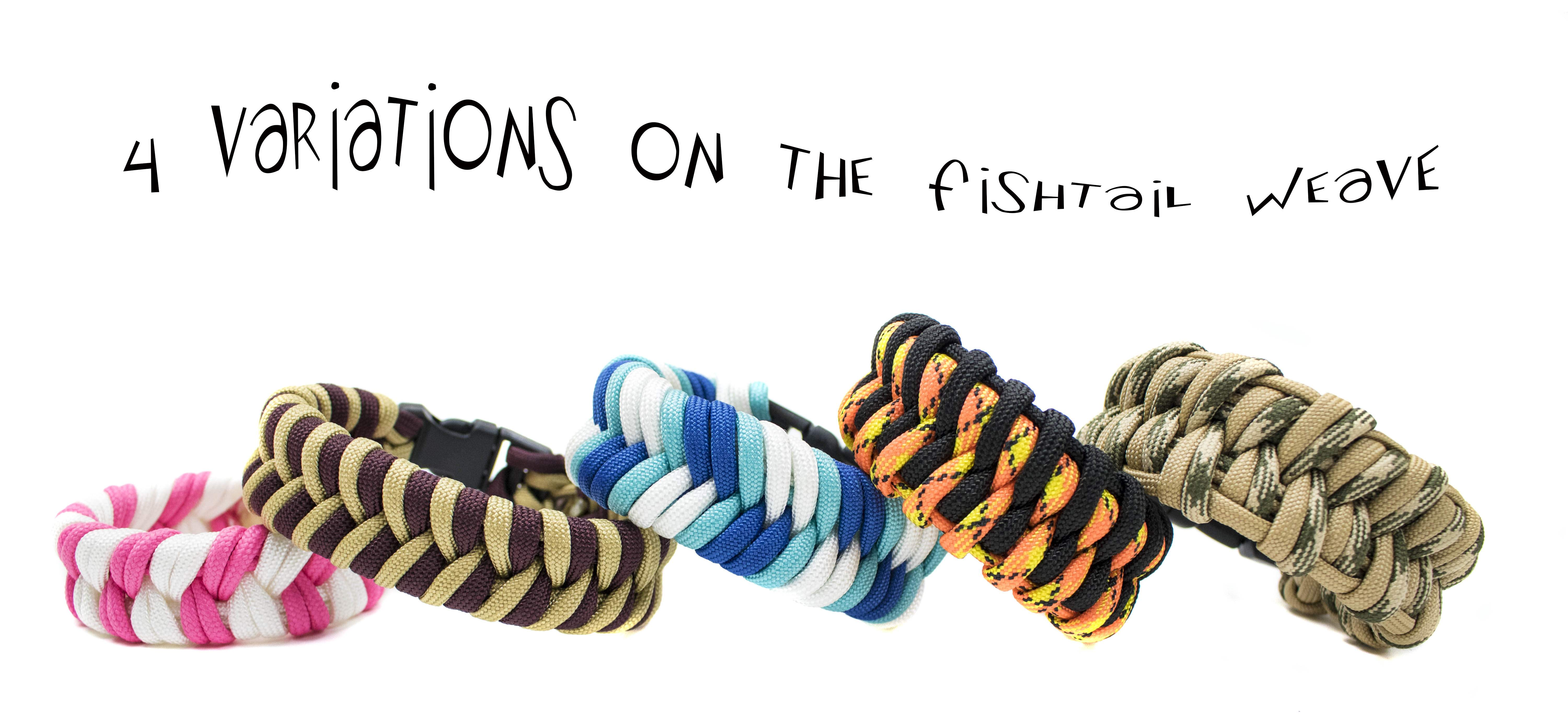 4 Variations on the Fishtail Paracord Weave