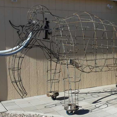 wireframe mammoth